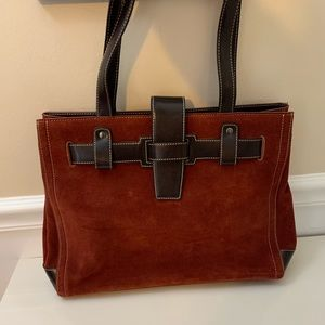Franklin Covey Suede Bag